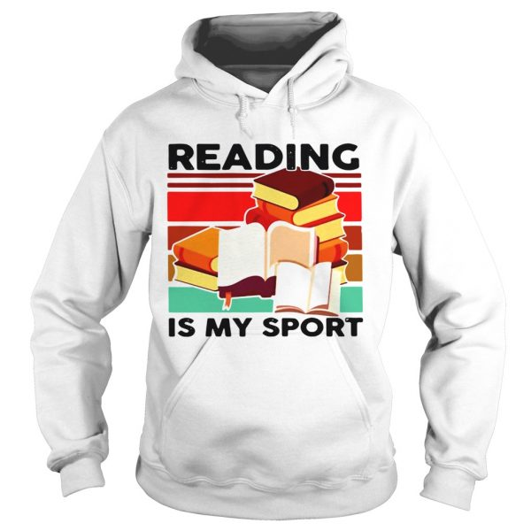 Reading Books Is My Sport Vintage  Hoodie