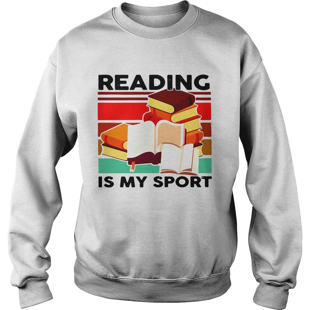 Reading Books Is My Sport Vintage Sweatshirt
