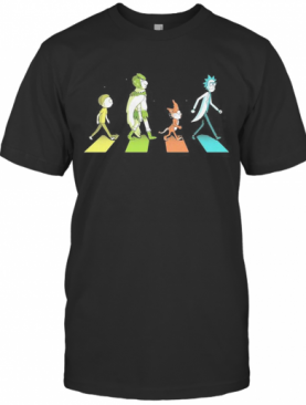 Rick And Morty Characters Abbey Road T-Shirt