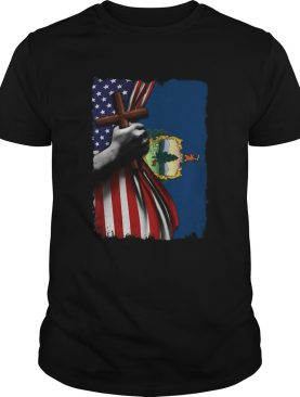 Vermont american flag cross happy independence day shirt