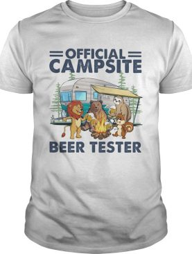 campsite beer tester truck lion bear sloth squirre fire shirt