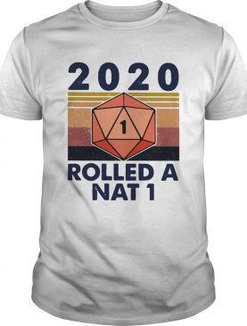2020 Rolled A Nat 1 Black Lives Matter Vintage Retro shirt