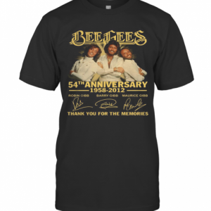 Bee Gees 54Th Anniversary 1958 2012 Thank You For The Memories Signatures T-Shirt Classic Men's T-shirt