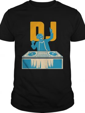 Black DJ music shirt