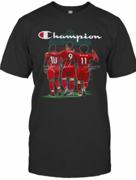 Champion Sadio Mane Roberto Firmino And Mohamed Salah Signature T-Shirt