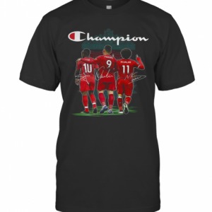 Champion Sadio Mane Roberto Firmino And Mohamed Salah Signature T-Shirt Classic Men's T-shirt