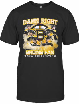 Damn Right I Am A Boston Bruins Fan Now And Forever Stars T-Shirt