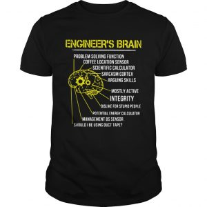 Engineers Brain Problem Solving Function Coffee Location Sensor  Unisex