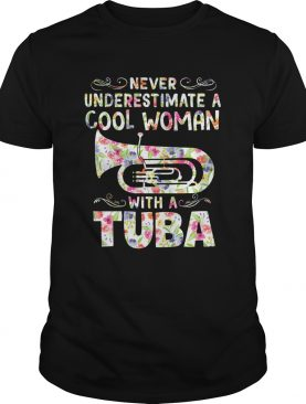 Never underestimate a cool woman with tuba shirt