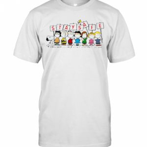 Snoopy And Friends Stay Safe T-Shirt Classic Men's T-shirt