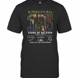 Supernatural 15 Years Of Release 2005 2021 Signatures Thank You For The Memories T-Shirt Classic Men's T-shirt
