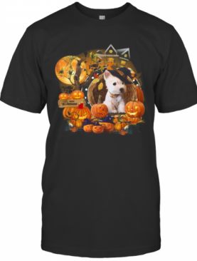 Terrier Puppy Witch Pumpkin Witch Halloween T-Shirt