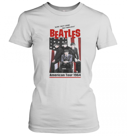 The Beatles Band Here They Come The Fabulous American Tour 1964 T-Shirt Classic Women's T-shirt