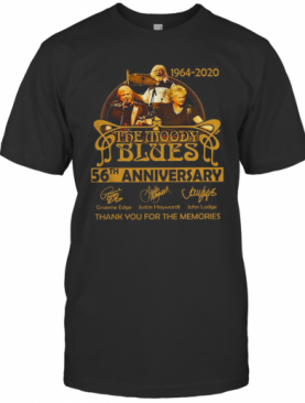 The Moody Blues 56Th Anniversary 1964 2020 Thank You For The Memories T-Shirt