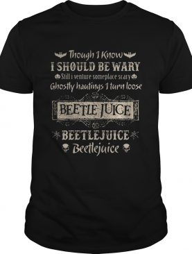 Though i know i should be wary still i venture someplace scary ghostly hautings i turn loose beetle