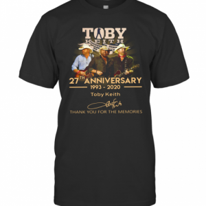 Toby Keith 27Th Anniversary 1993 2020 Signature Thank You For The Memories T-Shirt Classic Men's T-shirt