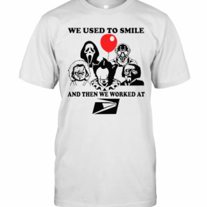 We Used To Smile And Then We Worked At United States Postal Service T-Shirt Classic Men's T-shirt