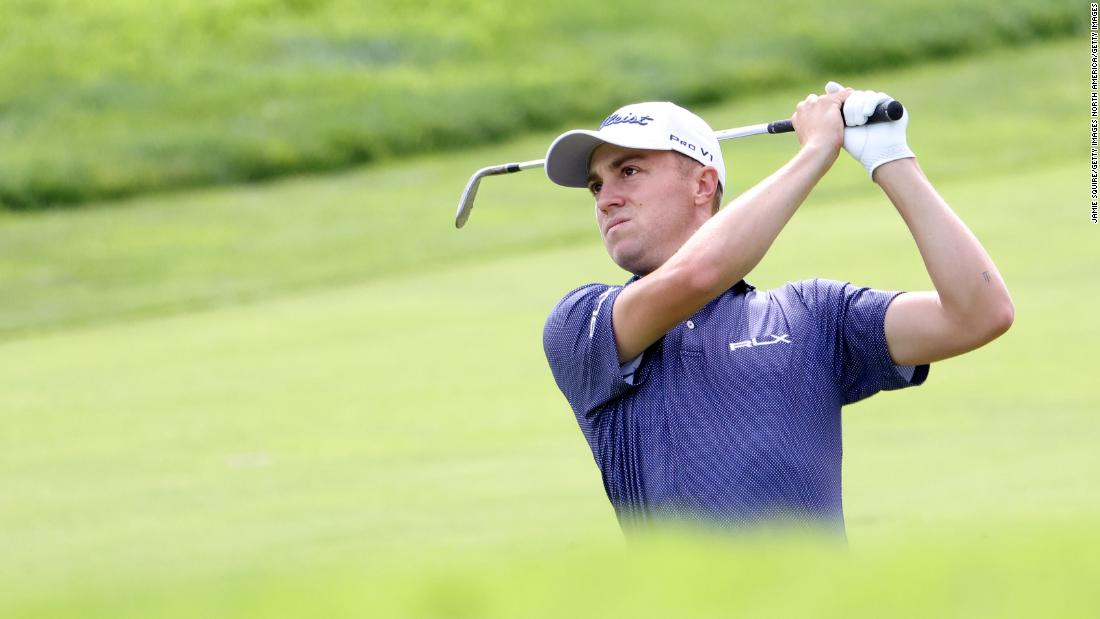 Justin Thomas leads US Open with record first-round score at Winged Foot