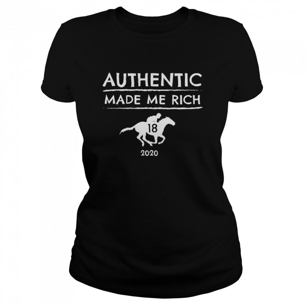 2020 Derby Winner Authentic Graphic Horse Racing Phrase Classic Women's T-shirt