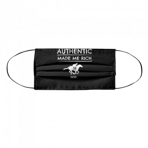 2020 Derby Winner Authentic Graphic Horse Racing Phrase  Cloth Face Mask