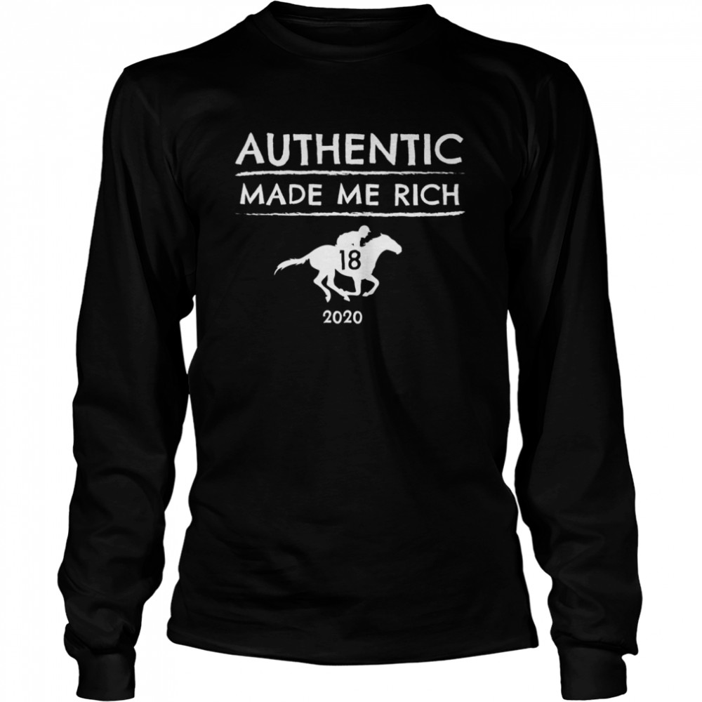 2020 Derby Winner Authentic Graphic Horse Racing Phrase Long Sleeved T-shirt