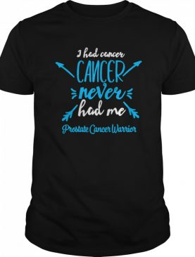 I Had Cancer Never Hack Me Prostate Cancer Warrior shirt