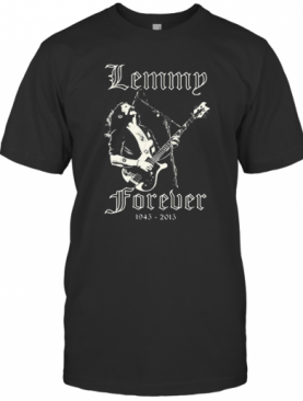 Lemmy Forever Playing Guitar 1945 2015 T-Shirt