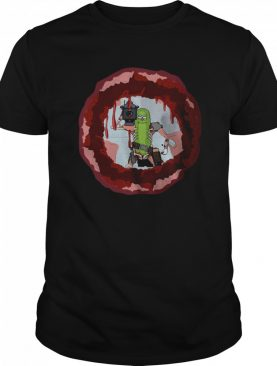 Rick And Morty Badass Pickle Rick Blow A Hole In The Chest shirt