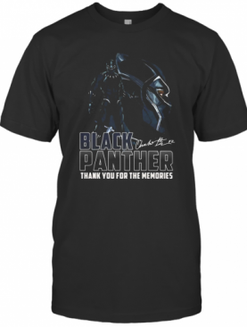 Rip Chadwick Black Panther Thank You For The Memories Signature T-Shirt