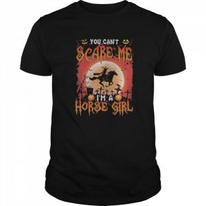 You Can't Scare Me I'm A Horse Girl Witch Moon Halloween  Classic Men's T-shirt