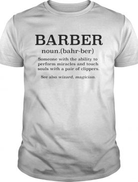 barber noun see also wizard magician shirt