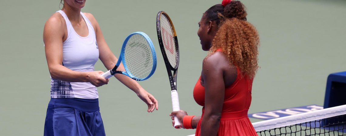 Serena Williams reaches US Open semifinals after rallying against fellow mom