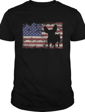 independence day chihuahua flag american shirt