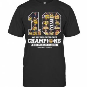 10 Years Western Conference Champions Los Angeles Lakers September 26 2020 T-Shirt Classic Men's T-shirt