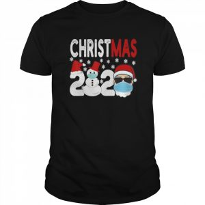 2020 Christmas Santa wearing Face Mask  Classic Men's T-shirt