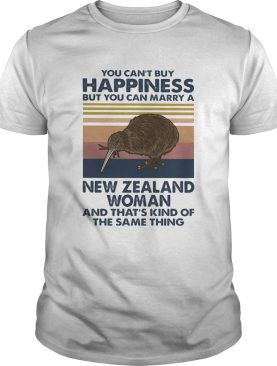 Kiwi Bird You Cant Buy Happiness But You Can Marry A New Zealand Woman Vintage Retro shirt