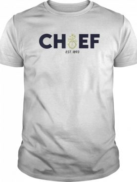 NAVY CHIEF WITH INSET ANCHOR BLUE AND GOLD shirt