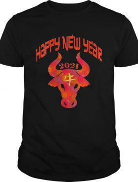 Chinese New Year Ox 2021 Artistic Design Happy New Year 2021 shirt