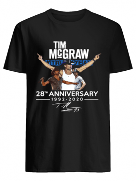 Tim Mc Graw 28th Anniversary 1992-2020 Thank You For Your Memories shirt