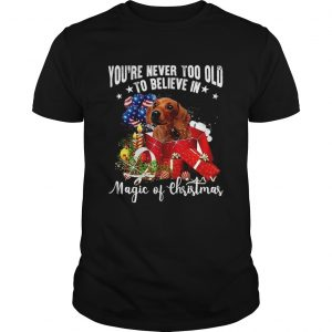 Youre Never Too Old To Believe In Magic Of Christmas  Unisex