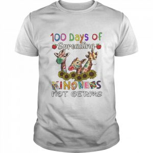 100th Day of Of Spreading Kindness Not Germs  Classic Men's T-shirt