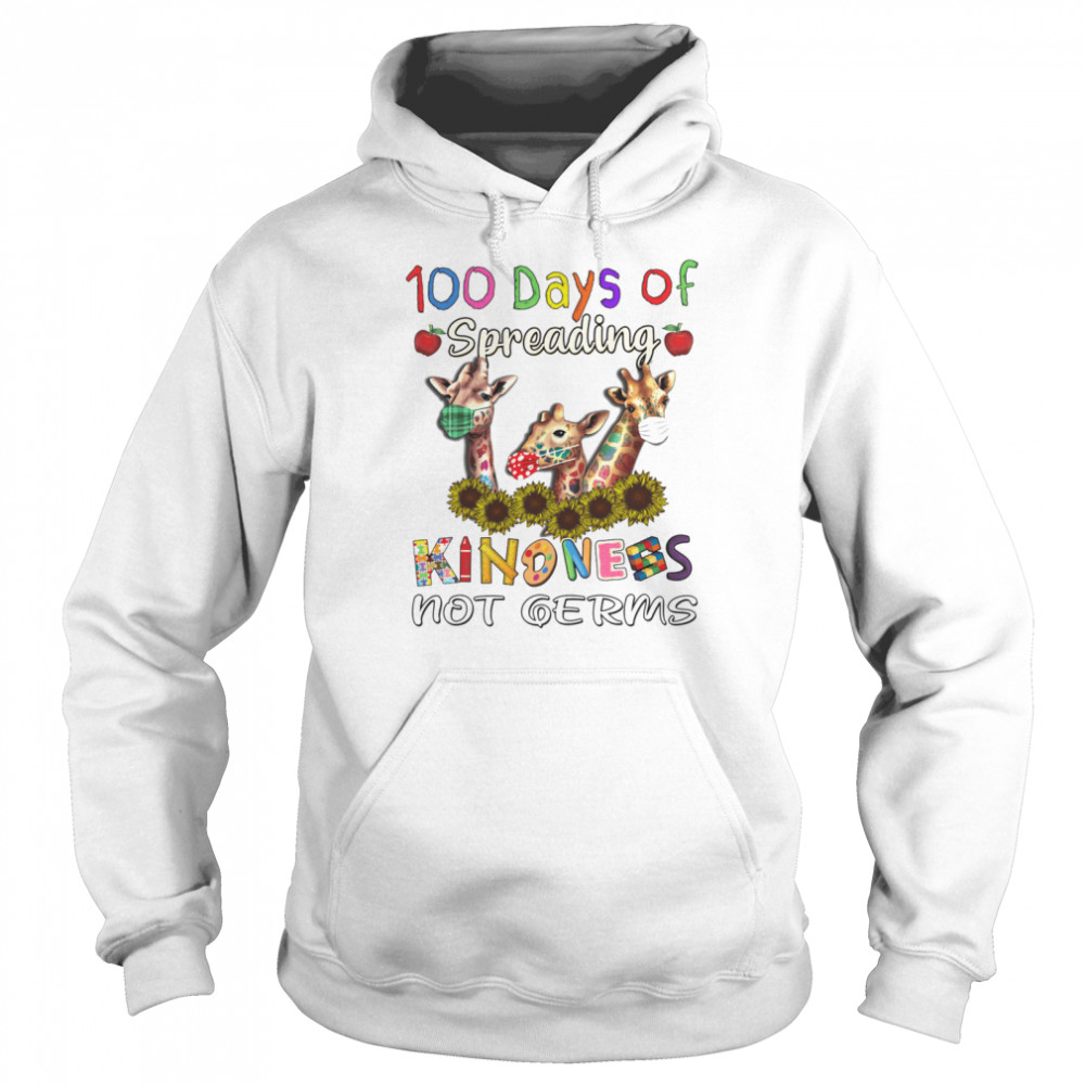 100th Day of Of Spreading Kindness Not Germs Unisex Hoodie