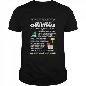 12 Days Of Christmas Library Song  Classic Men's T-shirt