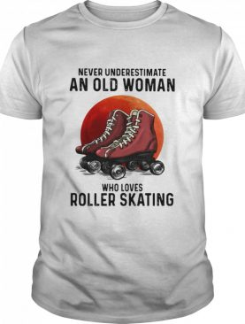 Never Underestimate An Old Man Who Loves Roller Skating The Moon shirt