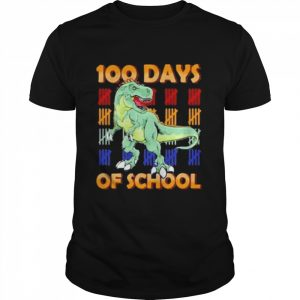 100 days of school dinosaur youth  Classic Men's T-shirt
