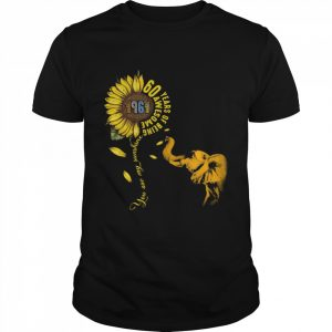 60 Years Of Being Awesome You Are My Sunshine Sunflowers Elephant 1961 Vintage  Classic Men's T-shirt