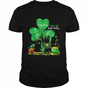 A Wee Bil Irish Today Cat Lucky Grass  Classic Men's T-shirt